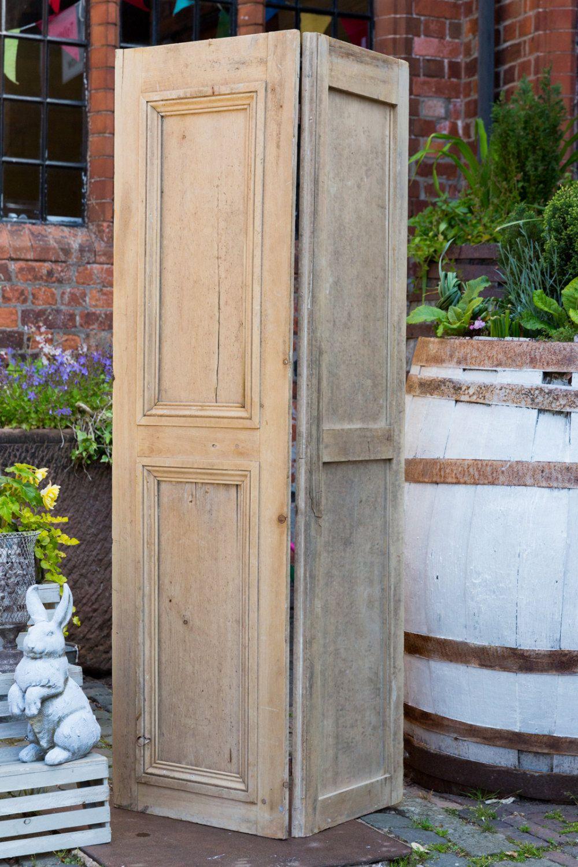 Antique Georgian Window Shutter Hinged Room Divider Pine Wooden Shutter Wooden Screen Original Hinges Window Shutters Wooden Shutters Interior Shutters
