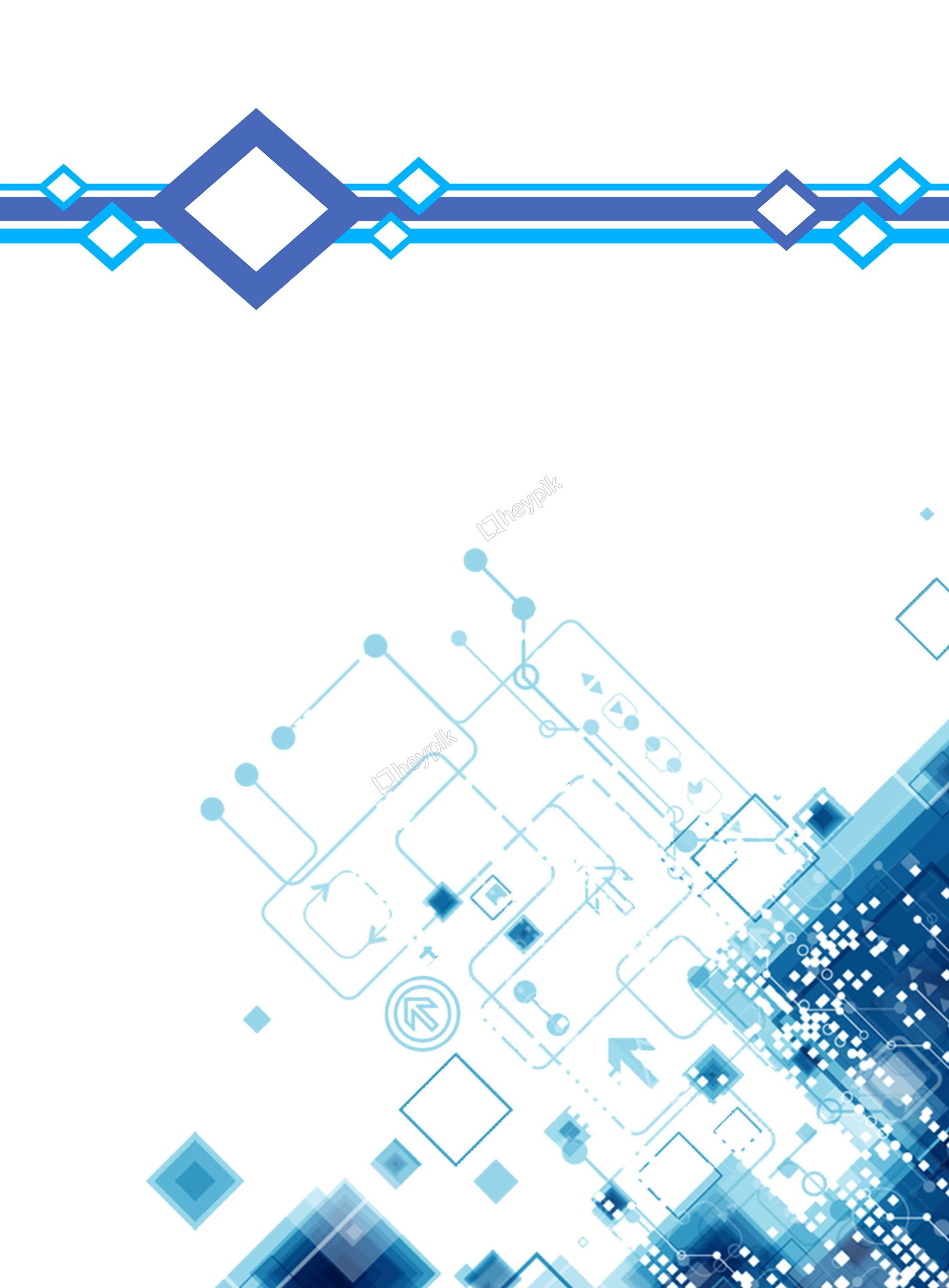 Blue Stereo Technology Background
