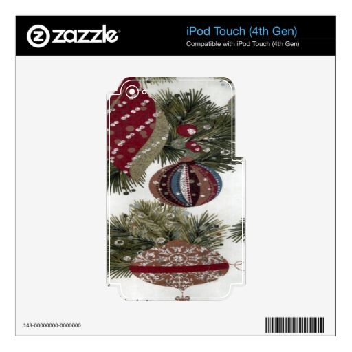Christmas pattern skins iPod touch 4G skin