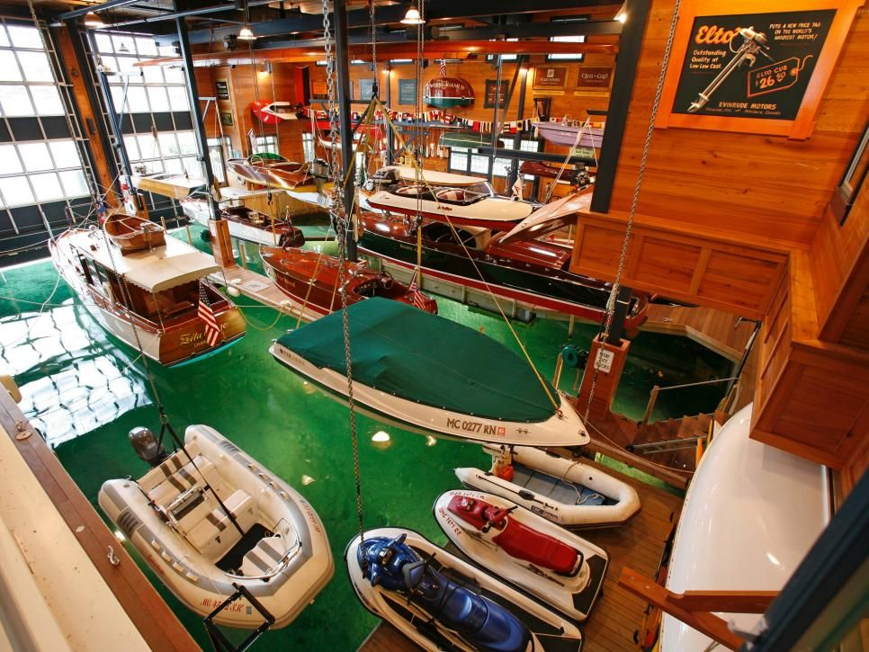 Million Dollar Boathouse  John Winn's passion is for collecting and restoring boats. His boathouse contains more than 30 of them.