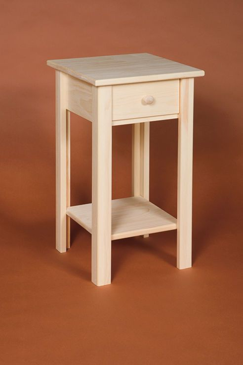 Small Plant Stand Or Occasional Table With Drawer