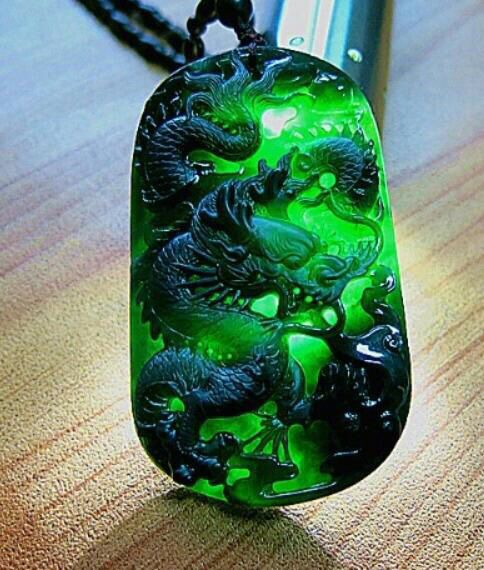 Chinese jade beautiful jewelry pinterest jade gems and dragons chinese jade pendant with carved dragon aloadofball Images