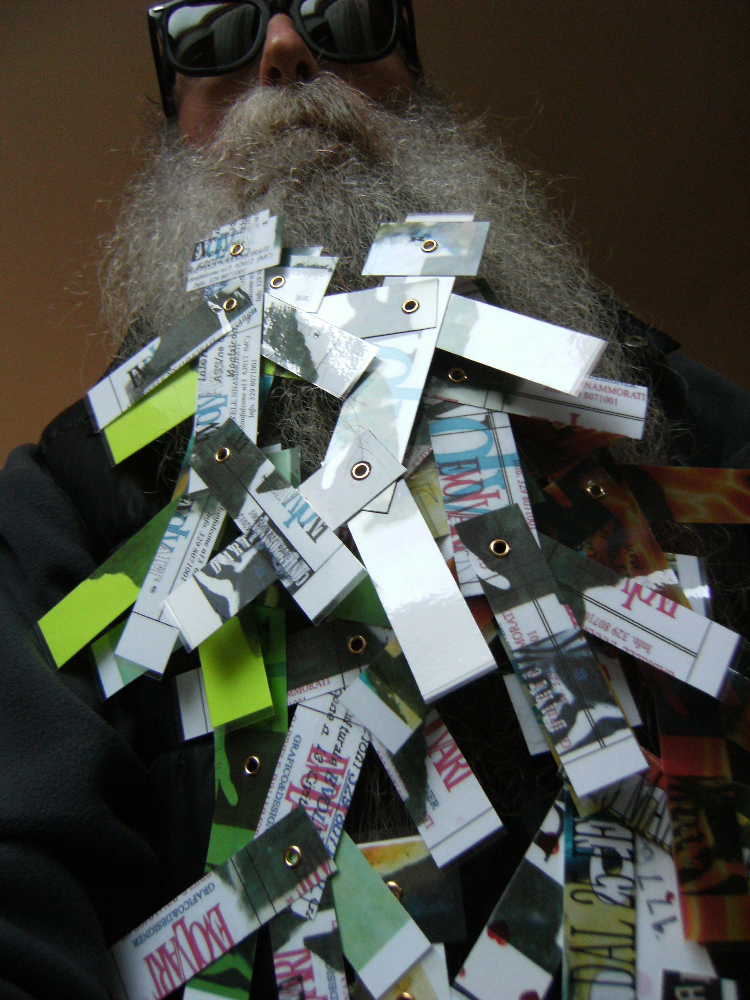 BEARD GALLERY - Opere di Gabriele Innammorati installate sulla mia barba (Galleria Pensile)