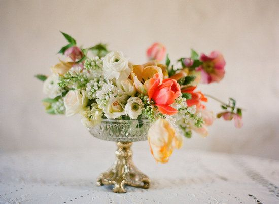 Simple centerpieces with exquisite blooms!
