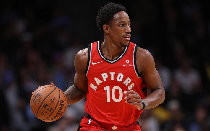 Download Wallpapers Demar Derozan 4k Basketball Players Nba Toronto Raptors Basketball Besthqwallpapers Com Fantasy Basketball Basketball Players Basketball