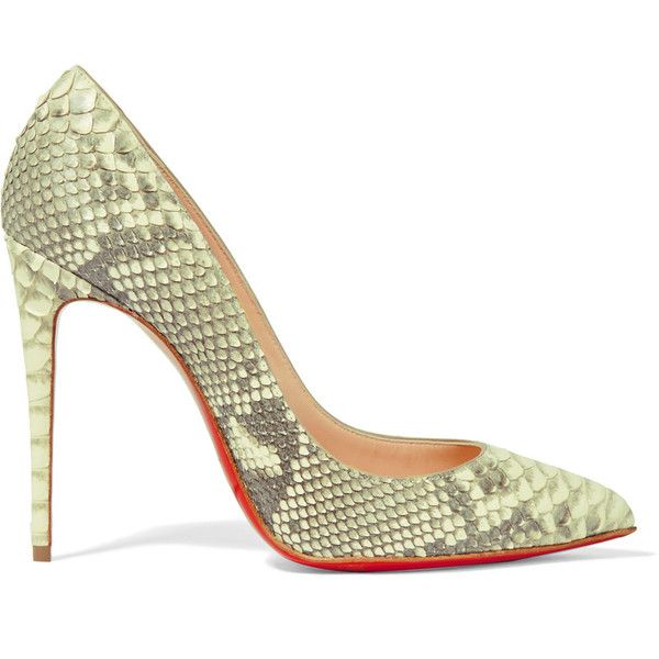 aa48120806e ... get christian louboutin pigalle follies 100 python pumps 1105 liked on polyvore  featuring shoes pumps heels
