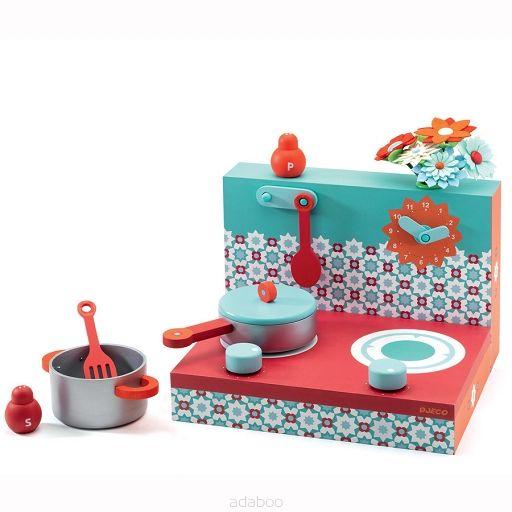 Drewniana Kuchnia Czerwono Niebieska Sklep Internetowy Dla Dzieci