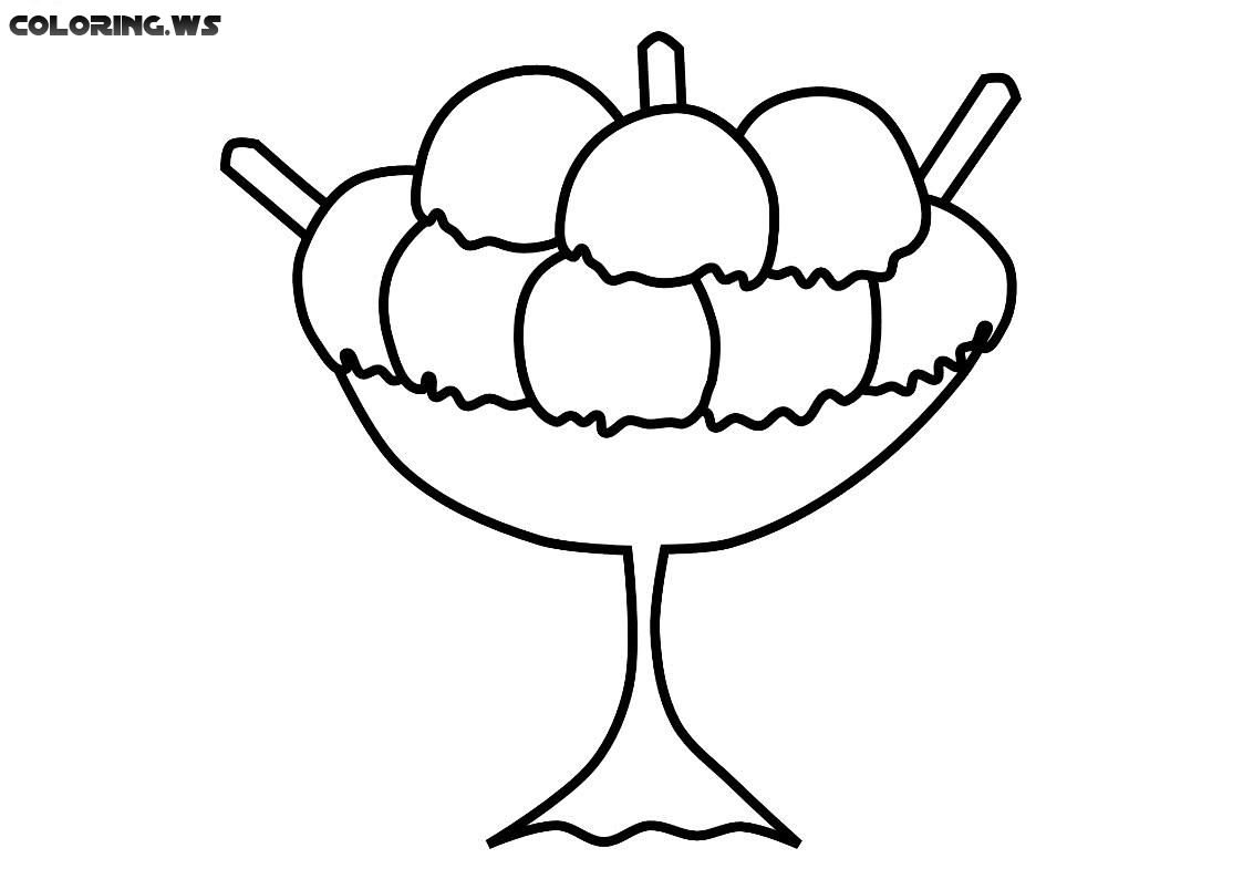 - Simple Ice Cream Yummy Coloring Page #yummy #kids #love #funny Ice Cream Coloring  Pages, Coloring Pages For Kids, Coloring Pages