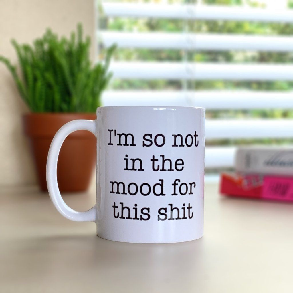 Funny Birthday Gift For Friend Coworker Office Humor Work Unspirational Mug Im So Not In The Mood This Shit