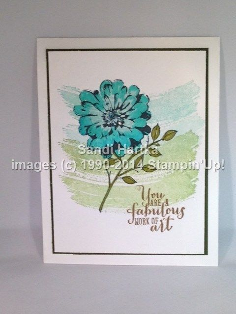 Stamped Birthday Cards Choose Happiness, Work of Art, Stampin\u0027Up