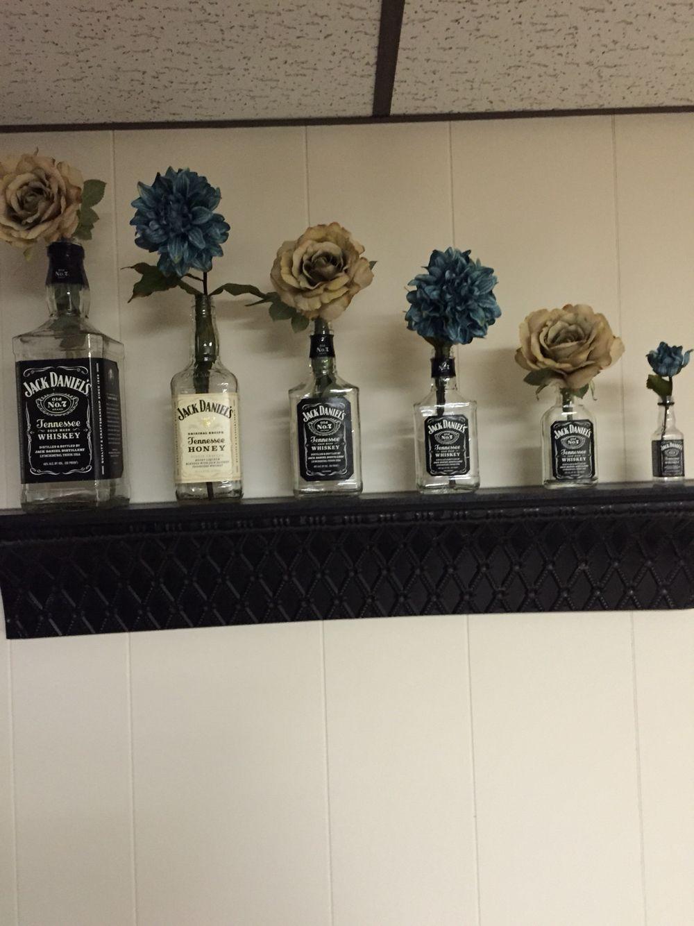 Jack Daniels Bottles And Flowers