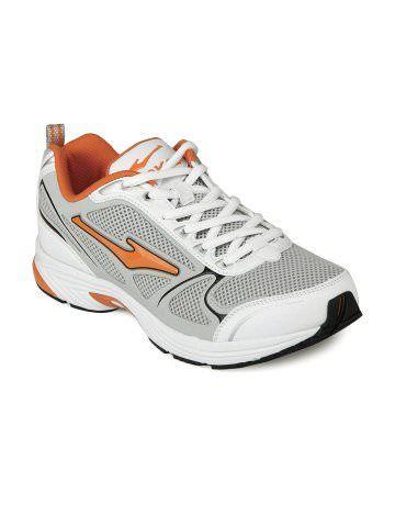 Erke Men Grey \u0026 White Sports Shoes