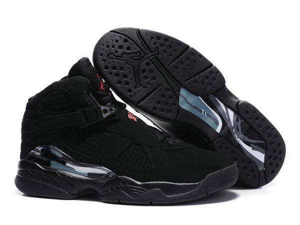 Sale Discount Air Jordan 8 Embroidery Retro Mens All Black Sports Shoes  Shop. Find this Pin and more on Nike Shox ...