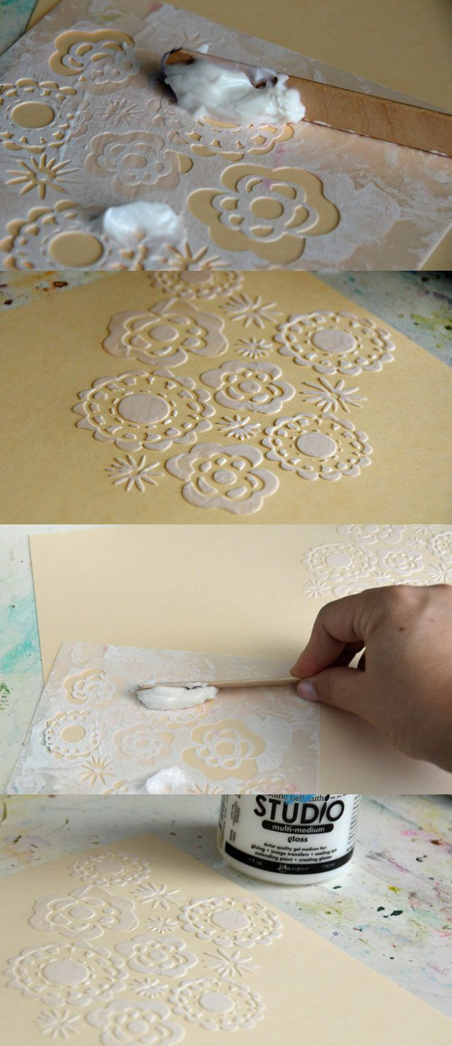Add texture to your paper crafting Add