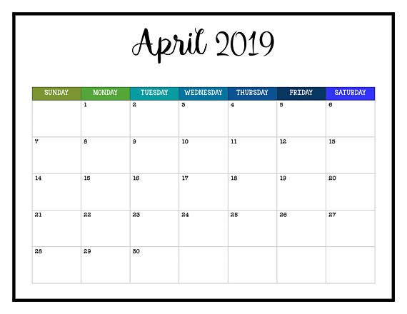 Cool Calendars 2019 2019 PRINTABLE Calendar / 2019 Wall Calendar Pages Crazy