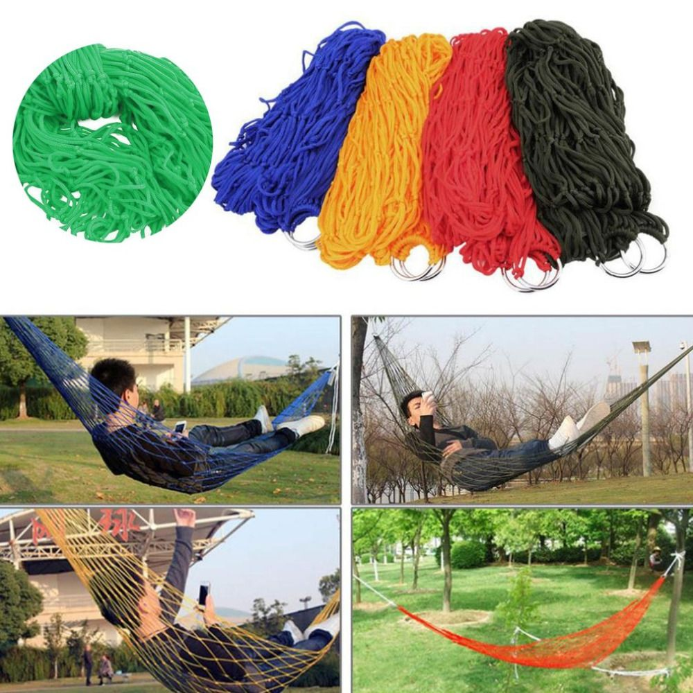Parachute nylon fabric mesh rope portable indoor outdoor swing