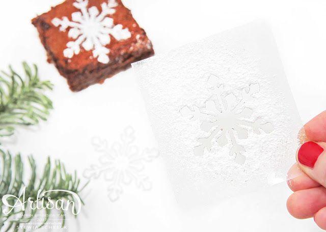 Schneeflocken-Schablone selber machen! Stampin´ Up! Tipps & Tricks!