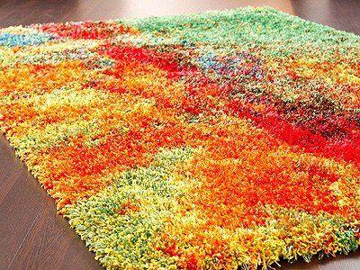 Hochflor Langflor Teppich Amalfi Bunt Amazonde Küche \ Haushalt - teppiche für die küche