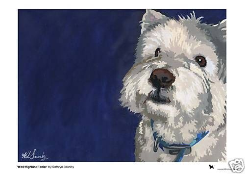 Limited Edition West Highland Terrier Print by Kathryn