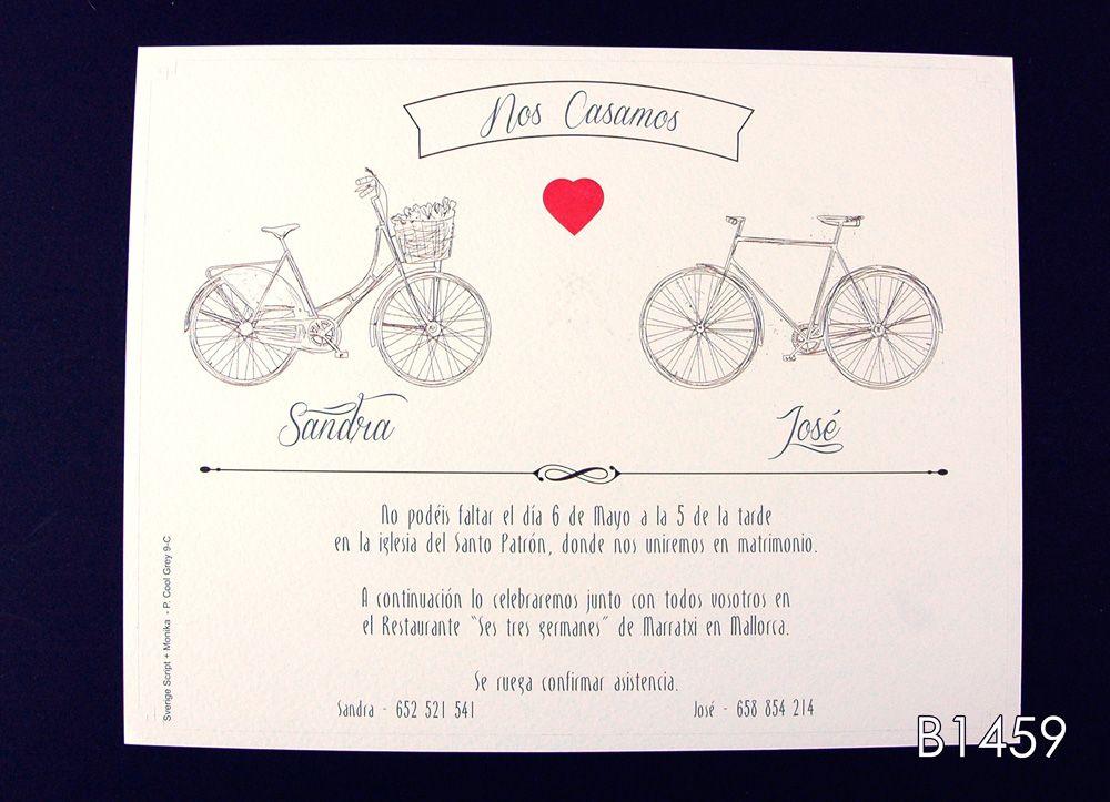 compromiso He reconocido Autonomía  Invitaciones De Boda Novios En Bicicleta Para Mandar Por Whatsapp 5 |  Invitaciones de boda, Boda, Invitaciones
