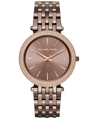 96602d4d6701 Michael Kors Women s Darci Sable Ion-Plated Stainless Steel Bracelet Watch  39mm MK3416