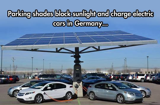 Europe has started to embrace green energy in their electric cars.