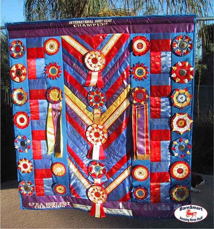 BarnSmart Trophy Ribbon Quilt | What to do with Horse Show Ribbons ... : ribbon quilt - Adamdwight.com