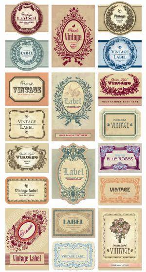 アンティークラベルを無料でダウンロードできるサイト 印刷可能なステッカー ヴィンテージのグラフィックデザイン ヴィンテージラベル