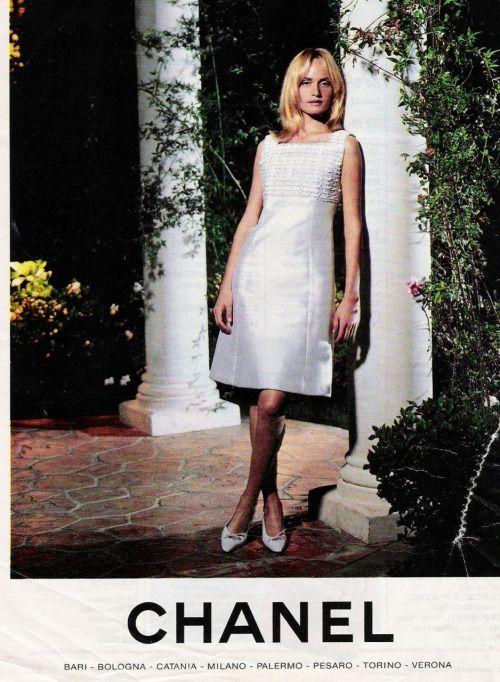 1996 Fendi Furs Fashion Magazine Print Ad: Amber For Chanel, 1996