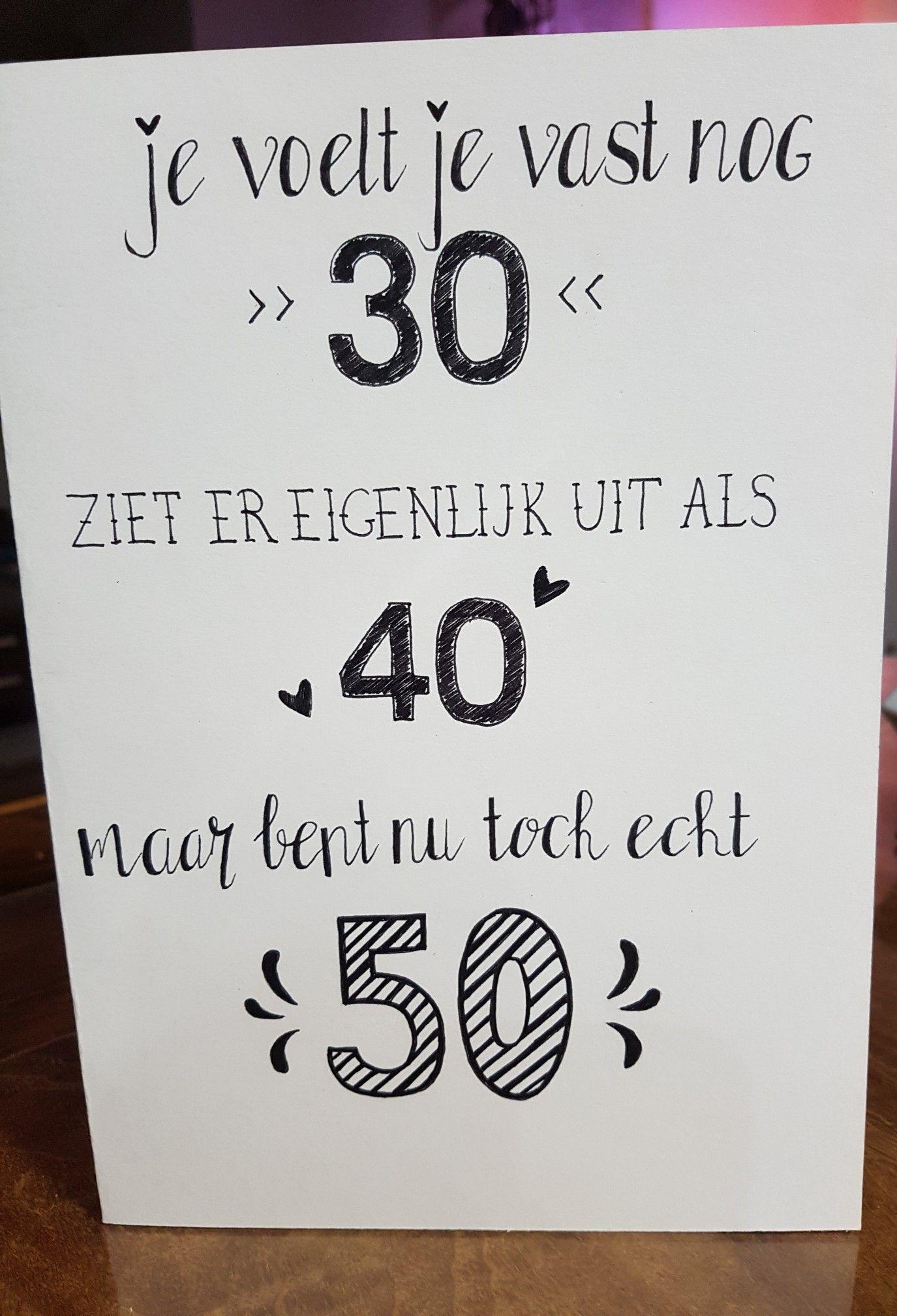 Leukenideeen Verjaardagen Verjaardagskaart Ideeen Kaart Maken 50 Kaarten Maken 50 Jaar