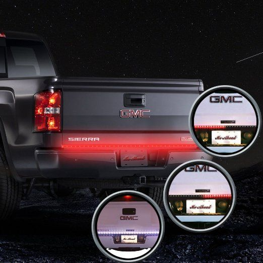 Mictuning 60 waterproof red white truck tailgate led light bar with mictuning 60 waterproof red white truck tailgate led light bar with reverse backup light function aloadofball Images