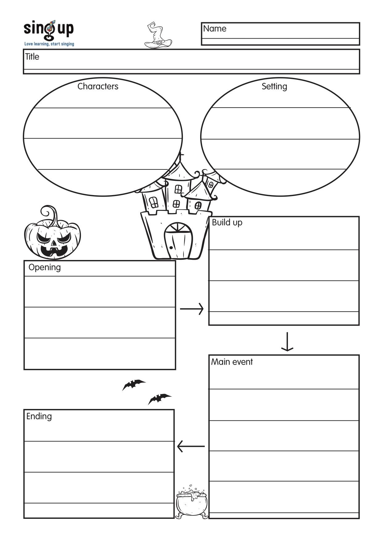 Halloween Narrative Graphic Organizer