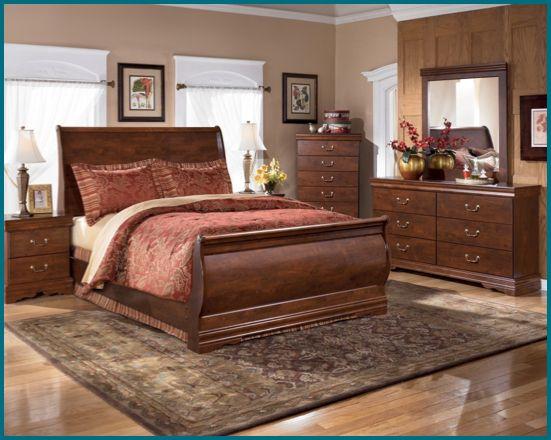 Cherry Sleigh Bed, Dresser, Mirror, Chest, & Night Stand CALL 610 ...