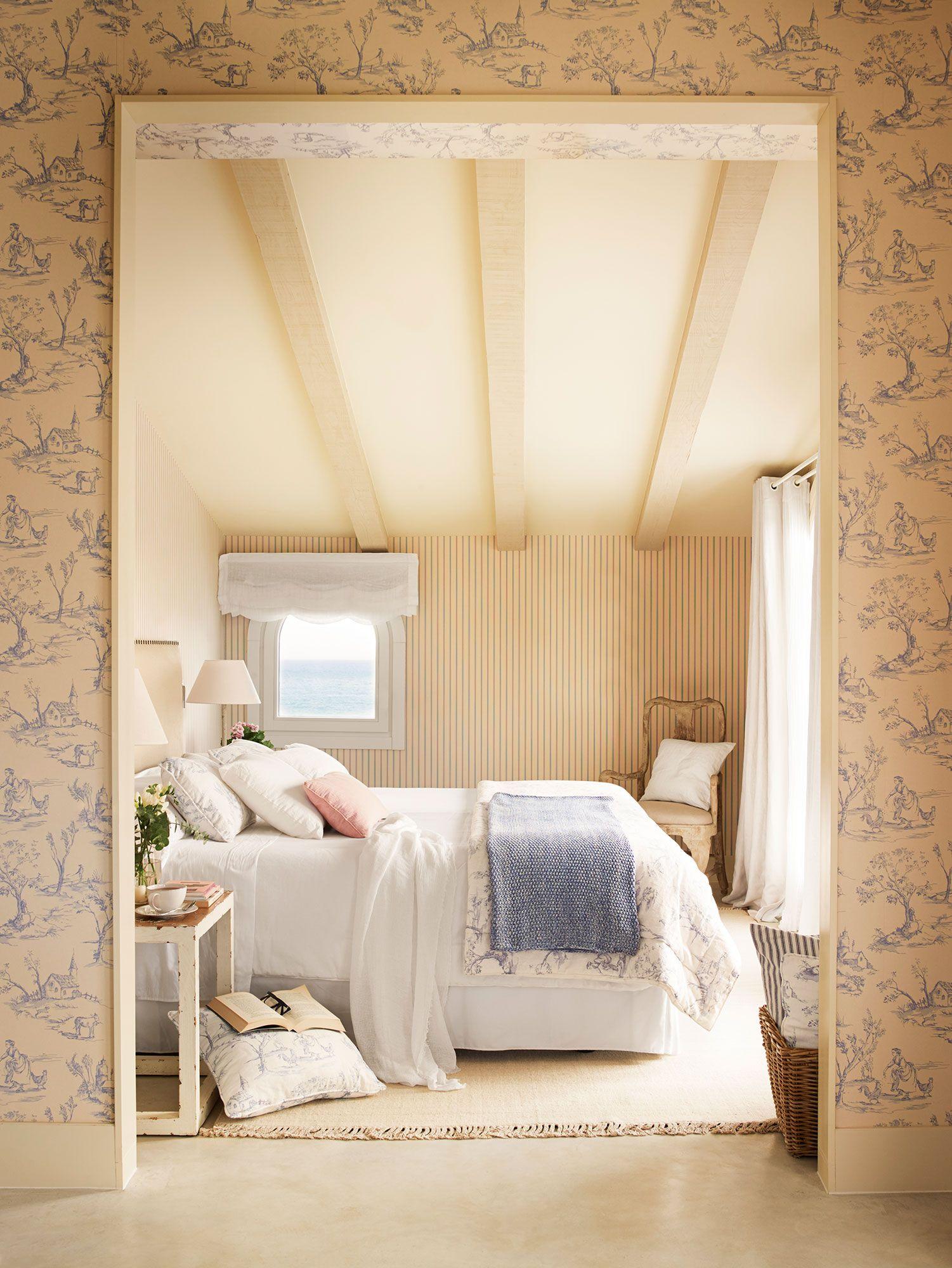 Textiles Bien Coordinados Dormitorios Pintar Un Dormitorio Dormitorios Abuhardillados