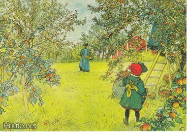 Carl Larsson(Sweden)1903 the apple harvest