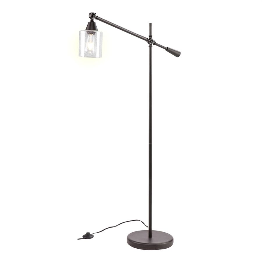 Boston loft furnishings lefou 6175 in black foot switch downbridge boston loft furnishings lefou 6175 in black foot switch downbridge floor lamp with glass shade aloadofball