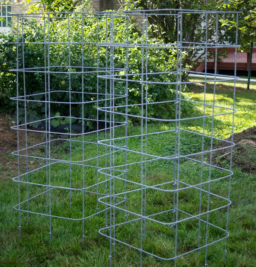 Commercial tomato cages are often too wimpy for kansas conditions fortunately you can make your own cages from concrete reinforcing mesh wire