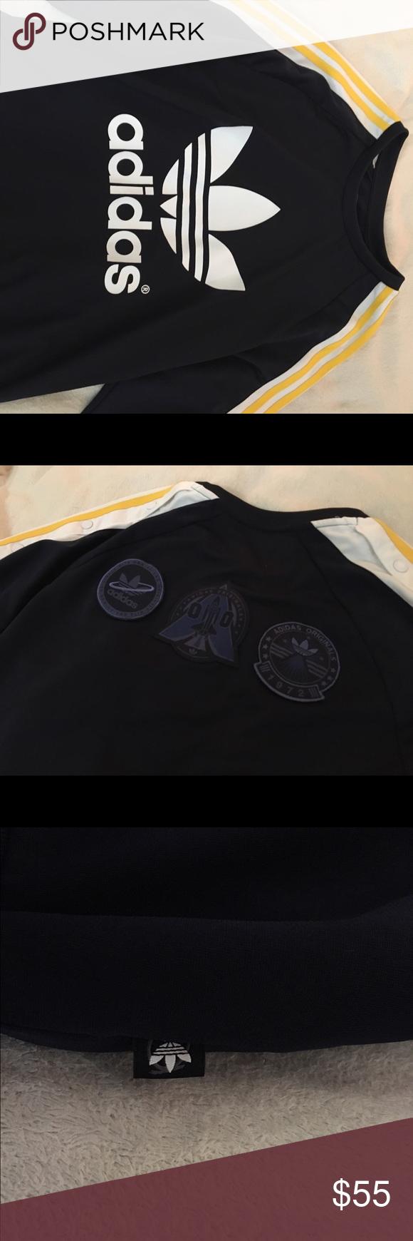 Adidas Crewneck Rita Ora Adidas x Collab. Three yellow stripes on the sleeve. Sold out everywhere Adidas Sweaters