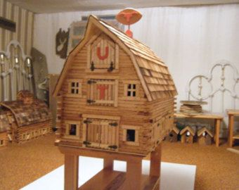 Wooden Toy Monitor Barn By Hrtlnddesigns On Etsy Toy