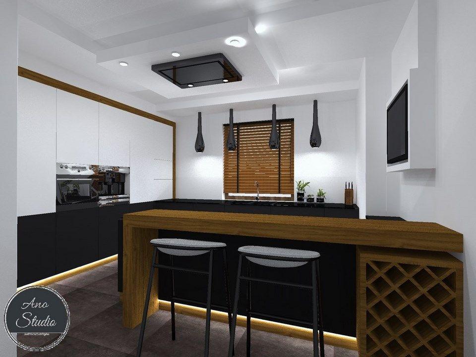 Kuchnia Biel Czern I Drewno W Nowoczesnym Wydaniu Award Winning Kitchen Kitchen Home