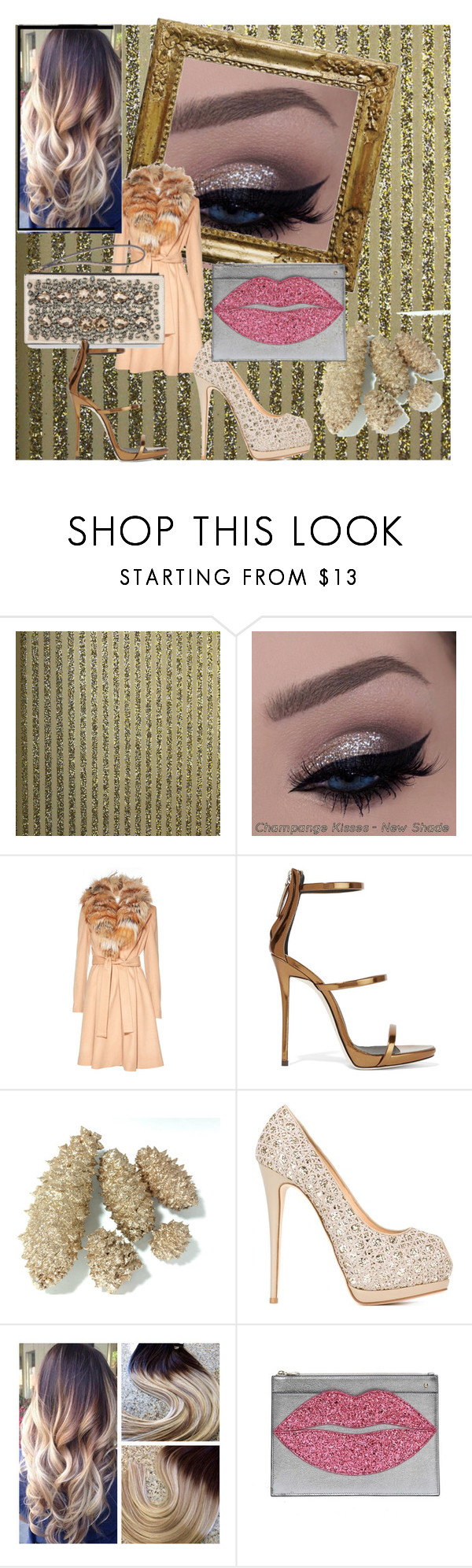 """Untitled #368"" by jesse-cc ❤ liked on Polyvore featuring beauty, Burke Decor, Alice + Olivia, Giuseppe Zanotti and Charlotte Olympia"