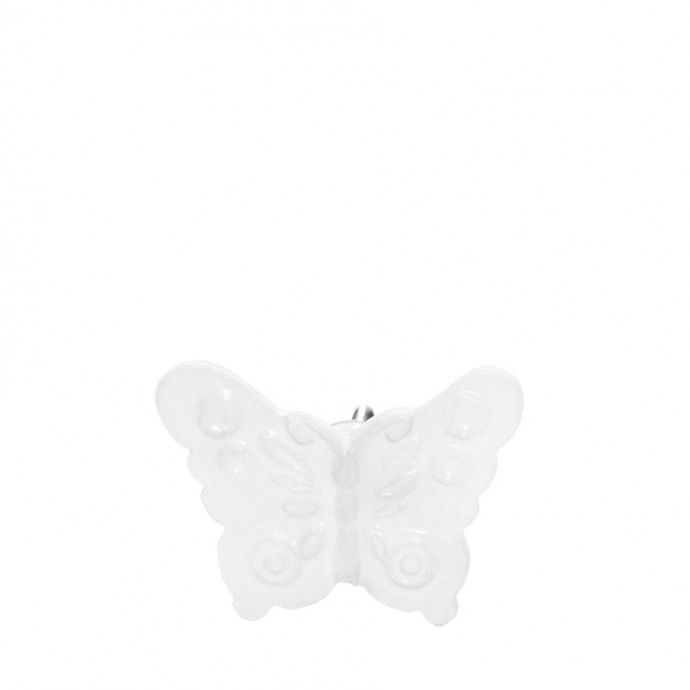 Flutter Metal Butterfly Door Knob Antique White | chinese cabinet ...