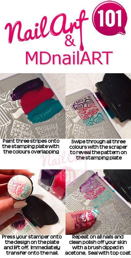 12 Tutorials to Make Stamping Nails | Nail stamping, Stamping nail ...