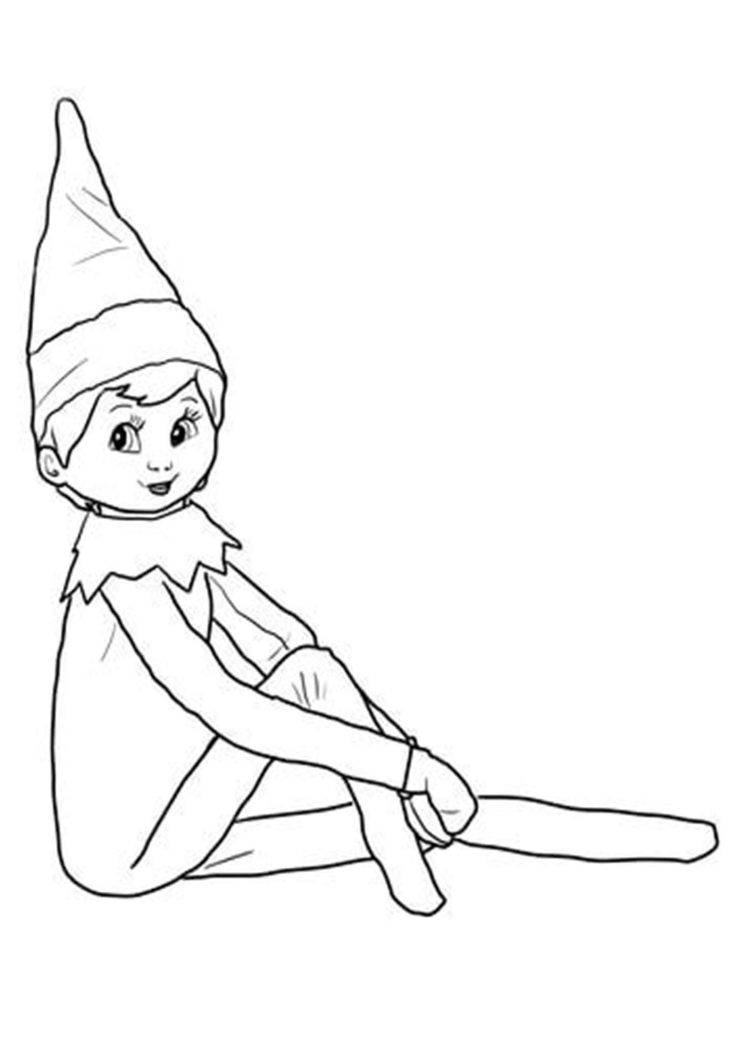Free Printable Elf on The Shelf Coloring Pages  Girl elf