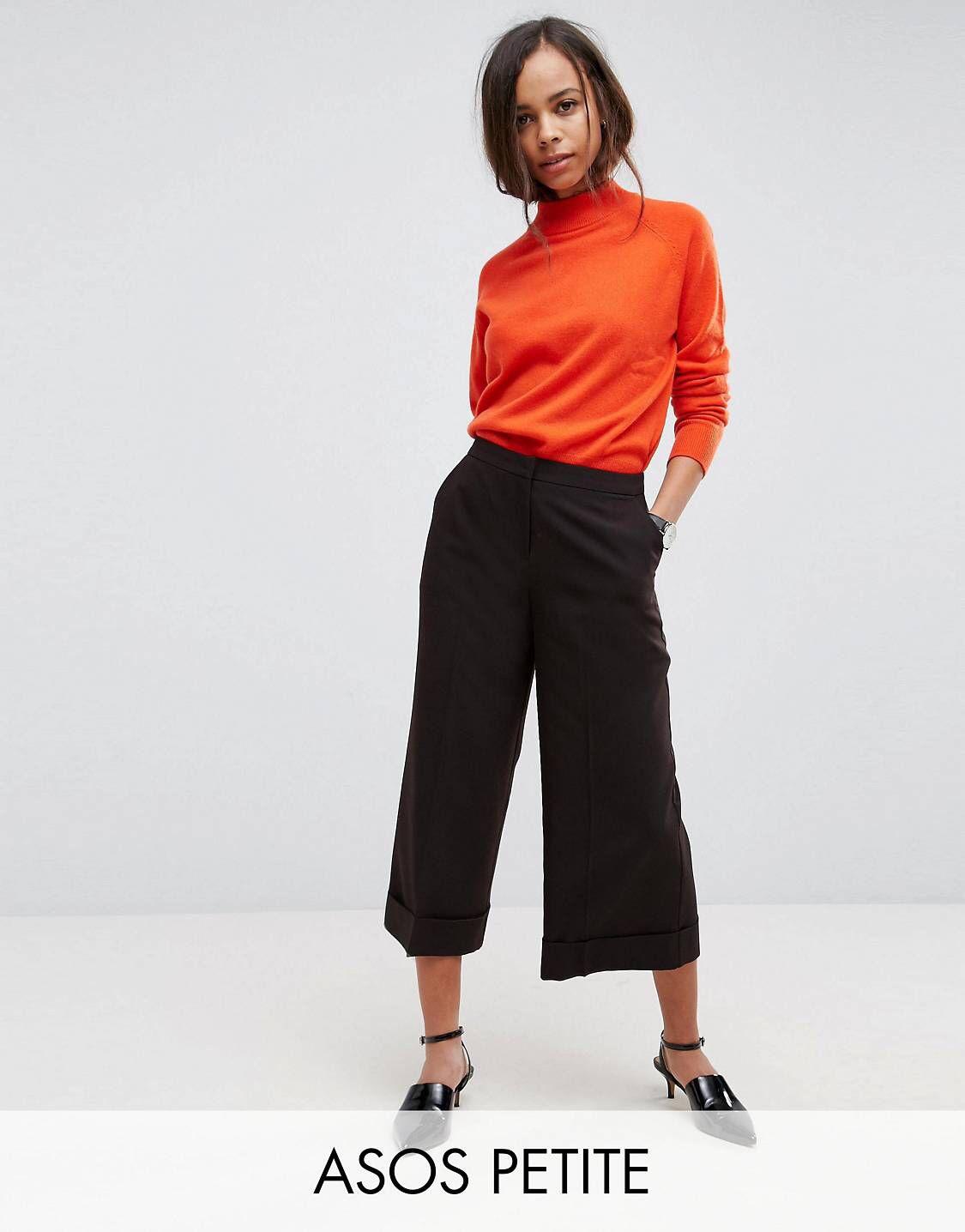 ASOS DESIGN Petite mix & match tailored clean culotte - Black Asos Petite Fashion Style Cheap Online Prices Sale Online Explore Sale Online VVaAbk