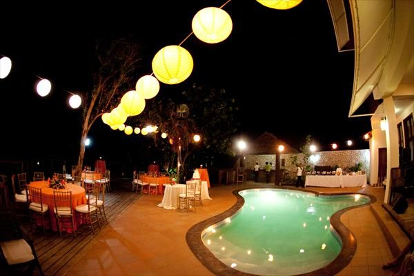 Pool Wedding Decoration Ideas backyard weddingive always wanted to get married in a backyard Floating Candles For Pool Wedding