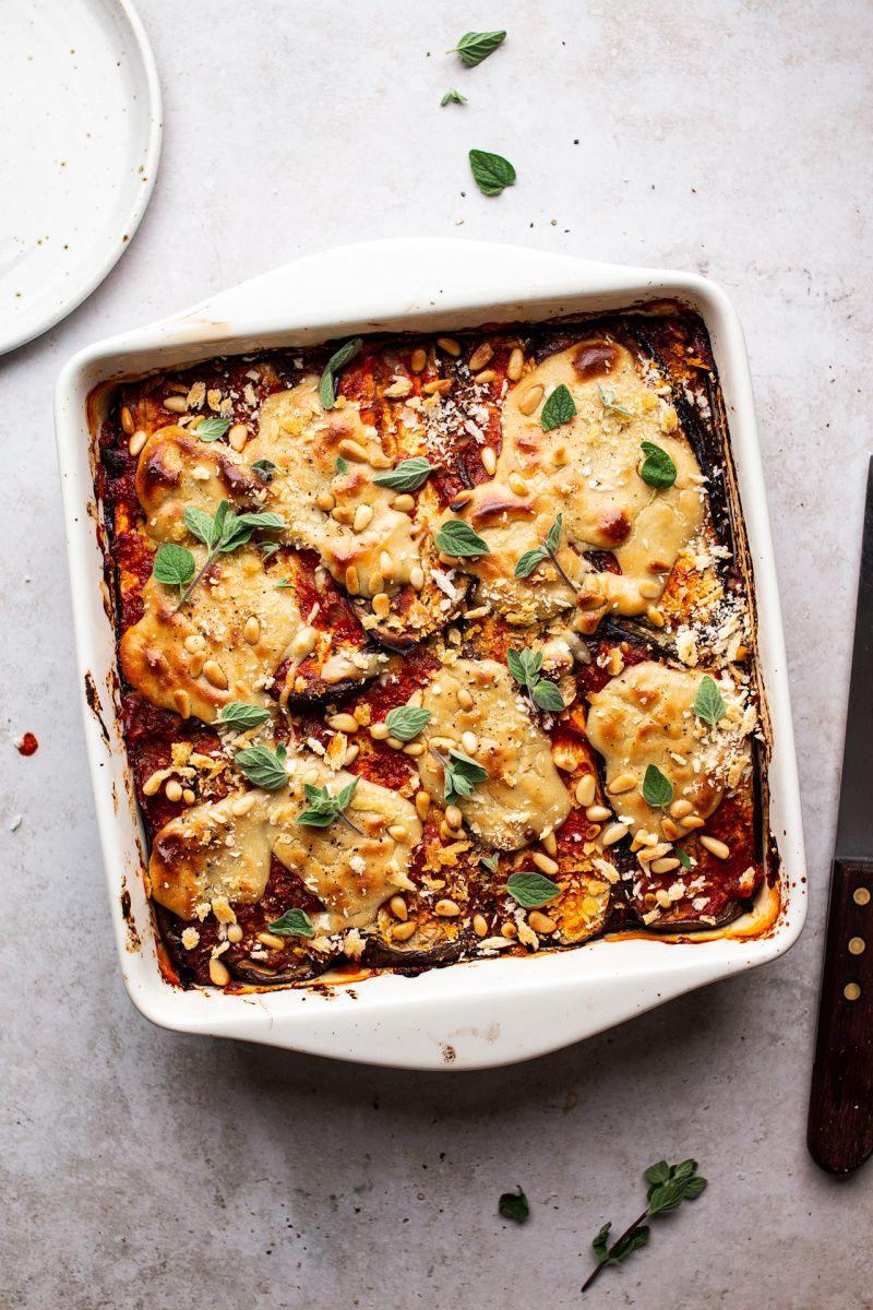Vegan Eggplant Parmigiana Lazy Cat Kitchen Recipe In 2020 Vegan Eggplant Lazy Cat Kitchen Vegan