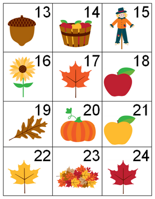 Counting Coconuts Autumn Calendar Cards Preschool Calendar Printable Calendar Numbers Calendar Numbers