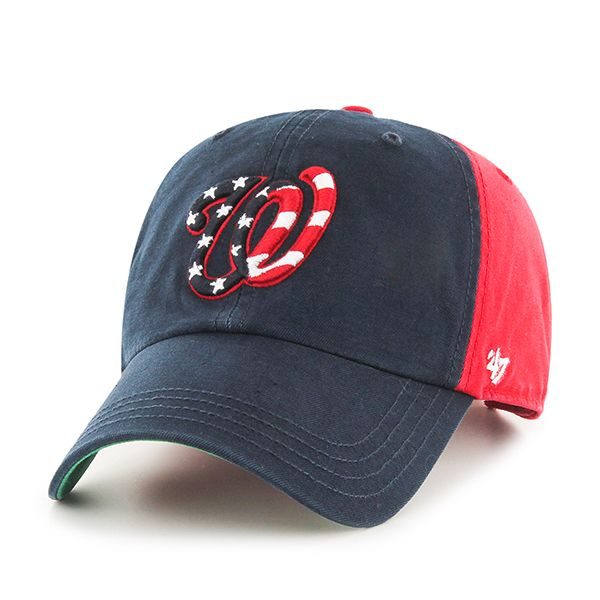 finest selection 35cac d96e2 Washington Nationals Flagstaff Clean Up Red 47 Brand Adjustable Hat