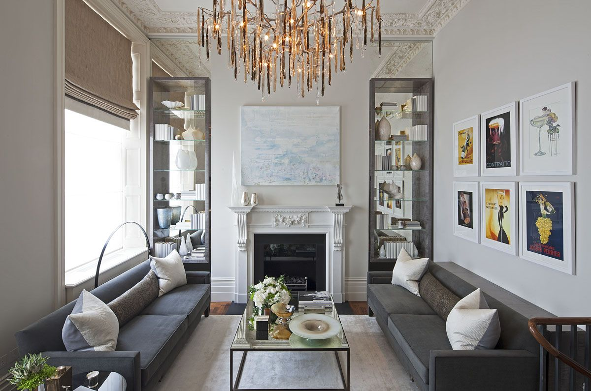 Cjc interior design apartment living room details flowers